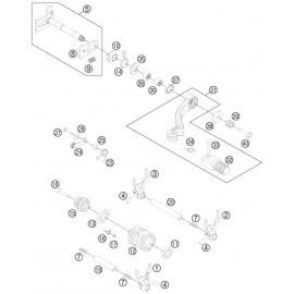 Mécanisme Chgt vitesse ( Husqvarna FC 350 2014 )