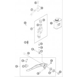 Commande de frein arrière ( Husqvarna FC 450 2014 )
