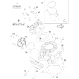 Cylindre ( Husqvarna TC 85 17/14 2015 )