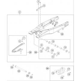 Bras oscillant ( Husqvarna TC 125 2015 )