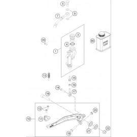 Commande de frein arrière ( Husqvarna TC 125 2015 )