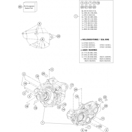 Carter moteur ( Husqvarna FC 350 2015 )