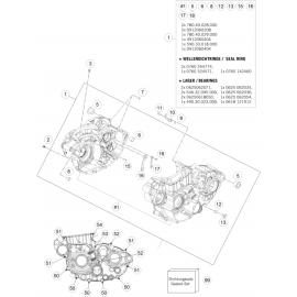 Carter moteur ( Husqvarna FC 450 2015 )