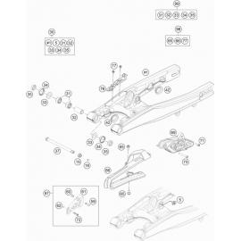 Bras oscillant ( Husqvarna TC 85 17/14 2016 )