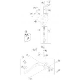 Commande de frein arrière ( Husqvarna TC 85 17/14 2016 )