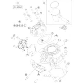 Cylindre ( Husqvarna TC 85 17/14 2016 )