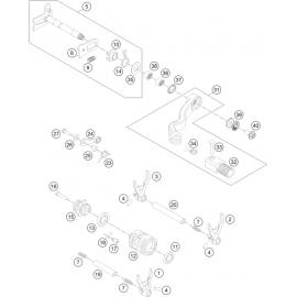 Mécanisme Chgt vitesse ( Husqvarna TC 250 2016 )