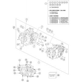 Carter moteur ( Husqvarna FC 450 2016 )