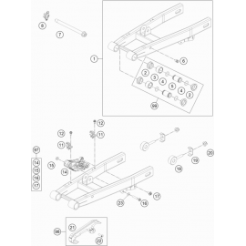 Bras oscillant ( Husqvarna TC 50 2017 )