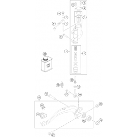Commande de frein arrière ( Husqvarna TC 85 17/14 2017 )