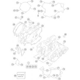 Carter moteur ( Husqvarna TC 85 17/14 2017 )