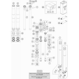 Fourche avant éclatée ( Husqvarna TC 250 2017 )