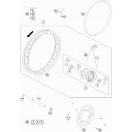 Roue avant ( Husqvarna TC 65 2018 )