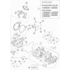 Carter moteur ( Husqvarna TC 85 17/14 2018 )