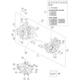 Carter moteur ( Husqvarna FC 350 2018 )