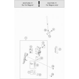 Etrier de frein avant ( Husqvarna FC 450 2018 )