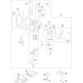 Papillon, corps d'injection ( Husqvarna FC 450 2018 )