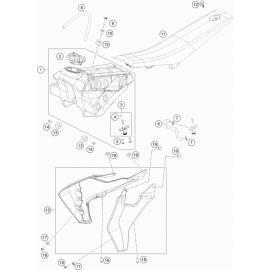 Réservoir, Selle, Cache réservoir ( Husqvarna TC 65 2019 )