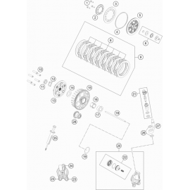 Embrayage ( Husqvarna TC 85 17/14 2019 )