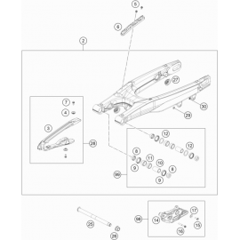 Bras oscillant ( Husqvarna TC 125 2019 )