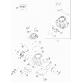 Cylindre, culasse ( Husqvarna TC 250 2019 )
