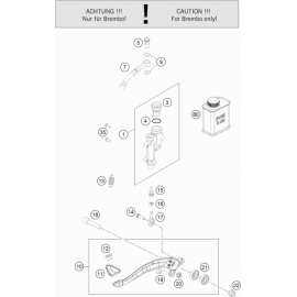 Commande de frein arrière ( Husqvarna FC 250 2019 )