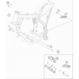 Cadre ( Husqvarna TC 50-MINI 2020 )