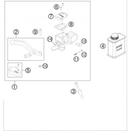 Cylindre de frein avant ( Husqvarna TC 50-MINI 2020 )