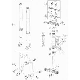 Fourche avant, Té de fourche ( Husqvarna TC 65 2020 )