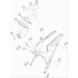 Filtre à air ( Husqvarna TC 65 2020 )