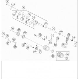 Mécanisme Chgt vitesse ( Husqvarna TC 65 2020 )
