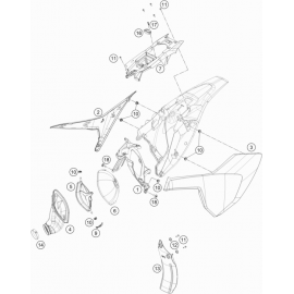 Filtre à air ( Husqvarna TC 85 19/16 2020 )