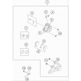 Etrier de frein arrière ( Husqvarna TC 85 19/16 2020 )