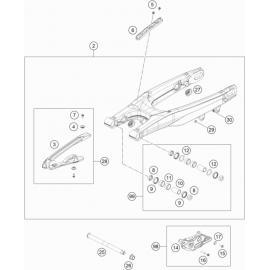 Bras oscillant ( Husqvarna TC 125 2020 )