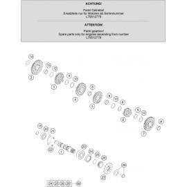 Transmission, arbre secondaire ( Husqvarna FC 450 2020 )