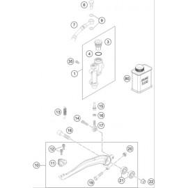 Commande de frein arrière ( Husqvarna FS 450 2015 )