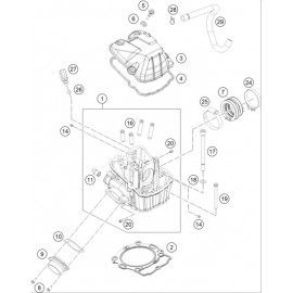 Culasse ( Husqvarna FS 450 2015 )