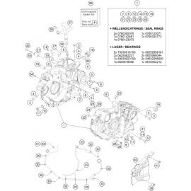 Carter moteur ( Husqvarna SUPERMOTO 701 2016 )