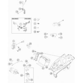 Cables, Faisceaux ( Husqvarna FS 450 2018 )