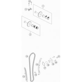Distibution, chaine de distribution, patins, pompe à eau ( Husqvarna VITPILEN 401 2018 )