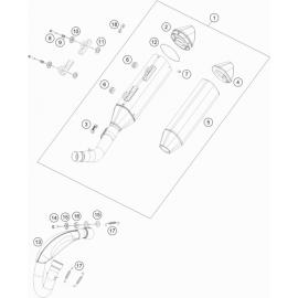 Echappement ( Husqvarna FS 450 2020 )
