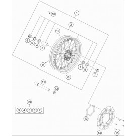 Roue avant ( Husqvarna FS 450 2020 )