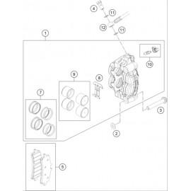 Etrier de frein avant ( Husqvarna FS 450 2020 )