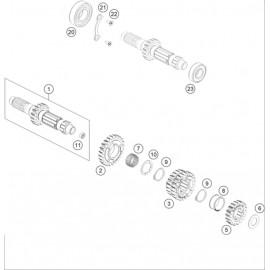 Transmission, arbre primaire ( Husqvarna FS 450 2020 )