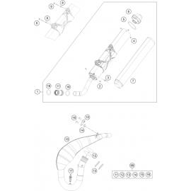 Echappement ( KTM 250 EXC-TPI 2018 )