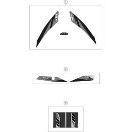 Décos, adhésif ( KTM 250 EXC-TPI 2018 )