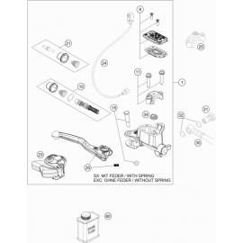 Cylindre de frein avant ( KTM 250 EXC-TPI-Six-Days 2018 )