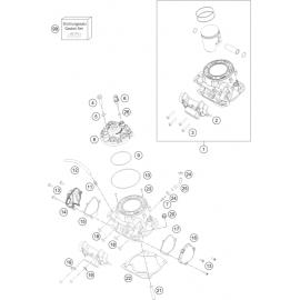 Cylindre, culasse ( KTM 250 EXC-TPI-Six-Days 2018 )