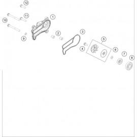 Pompe à eau ( KTM 250 EXC-TPI-Six-Days 2018 )