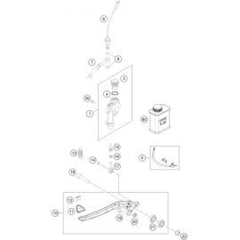 Commande de frein arrière ( KTM 300 EXC-TPI-Six-Days 2018 )